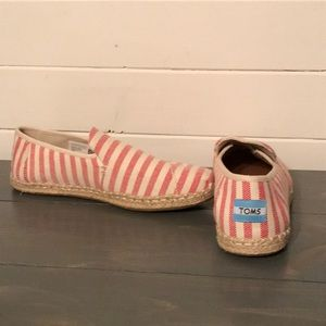 Like New Red Striped Toms